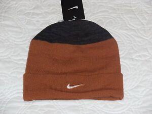 Image is loading Nike-Men-039-s-Burnt-Orange-Beanie cfc11df03c20