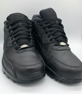 Nike-302519-001-Air-Max-90-Essential-Leather-Men-039-s-Shoes-Size-11-Black