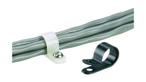 Nylon 6.6 Panduit CCH25-S10-C Fixed Diameter Cable Clamp #10 Screw 0.25-Inch