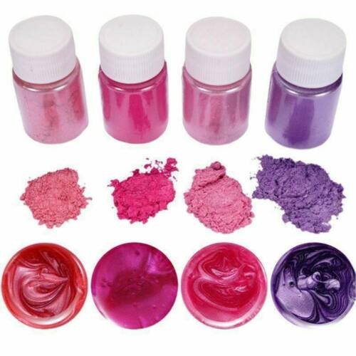 4X Mixed Color Pearl Metallic Pigment Powder Epoxy Resin Floors Mineral Powder