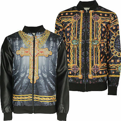 Mens Lightweight Jacket Soulstar Urban Hip Hop Fashion Bling Casual Coat Top New