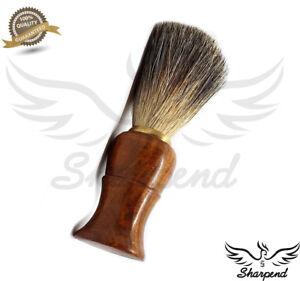 Luxury-Brown-Badger-Hair-Men-Shaving-Brush-Wet-Shave-Removal-Black-Handle