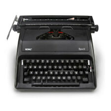 Royal Epoch 11 Portable Manual Typewriter With Carrying Case Gray Spanish