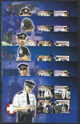 Alderney 2003 Community Services Set Six Zusammendrucke Nicht Gefaßt Postfrisch, Großbritannien