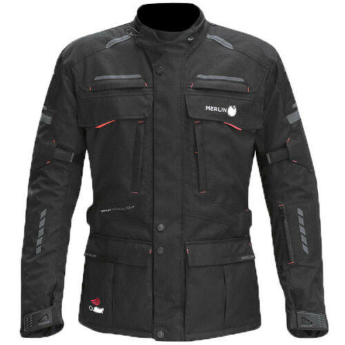 Merlin Peake Outlast Waterproof Textile Motorcycle Motorcycle Jacket Black