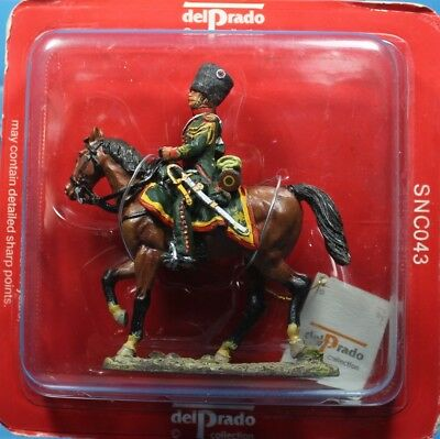 Del Prado Tin toy soldiers 1//32 SNC043 Officer 1809 French Chasseurs A Cheval