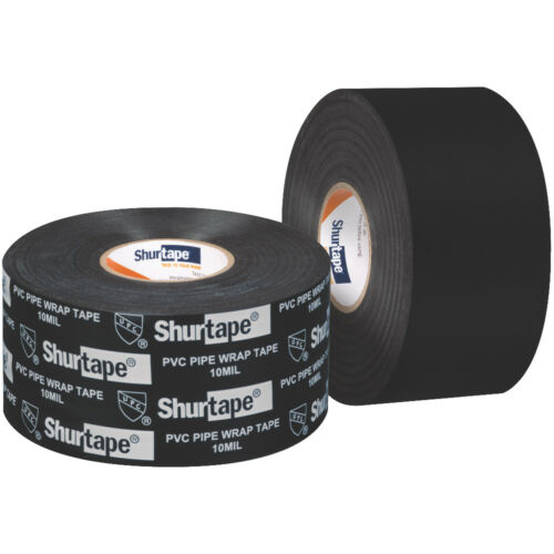 x 30 yds. 2 in Shurtape PW-100 Corrosion Protection Pipe Wrap Tape Black