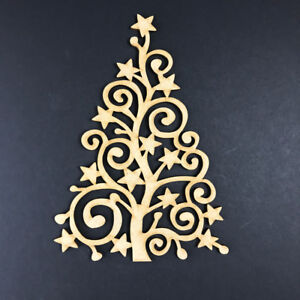 Image Is Loading MDF Wooden Tree Shape Blank Craft Family Frame
