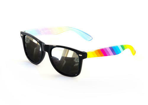 ** RAINBOW GAY PRIDE SUNGLASSES FANCY DRESS NEW ** LGBT GLASSES