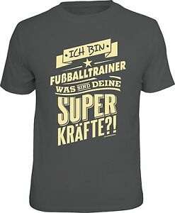 Fussball T Shirt Fußballtrainer Und Superkräfte Fun Shirt Geschenk