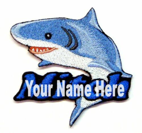 Shark Custom Iron-on Patch With Name Personalized Free