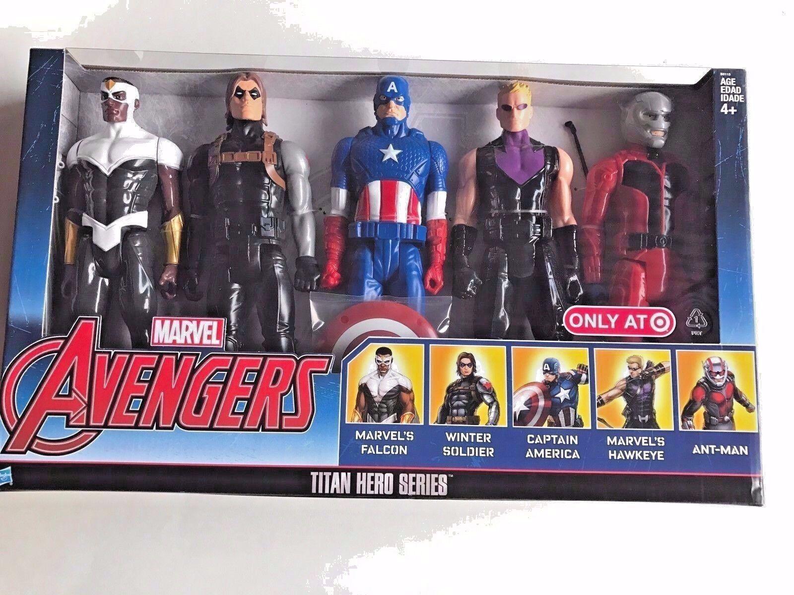 Marvel Avengers Titan Hero Series Captain America 5 Pack Action Figures Toy