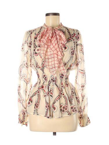 Celia  Birtwell for Express Women Ivory Long Sleev