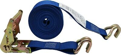 Double J Wire Hook On Each End 1428 CTD 1.5 Inch x 16.5 Foot Ratchet Strap