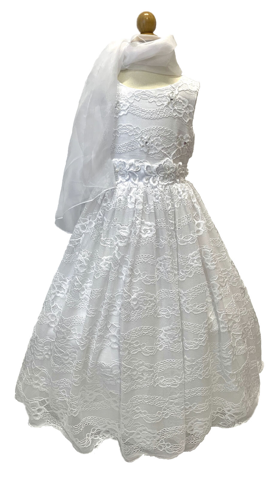 Flower Girl Pageant Formal Party Communion Princess Dress Couture Collection SZ6
