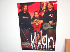 Korn banner Ibanez Guitar Bass 23 7/8 x 33 1/2 Nylon cloth promo poster rare
