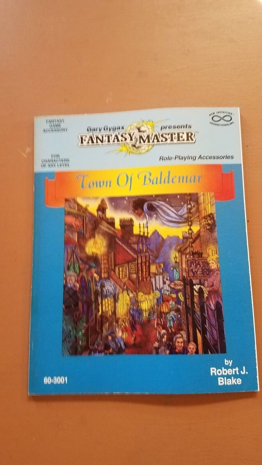 Infinity  Gary Gygax Presents Fantasy Masters AD&D - TOWN OF BALDEMAR with map