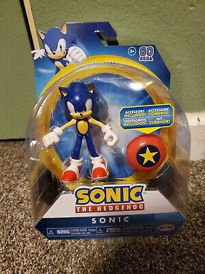 New Mib Articulated Sonic The Hedgehog Jakks Pacific 4 Inch Action Figure Movie 192995403840 Ebay