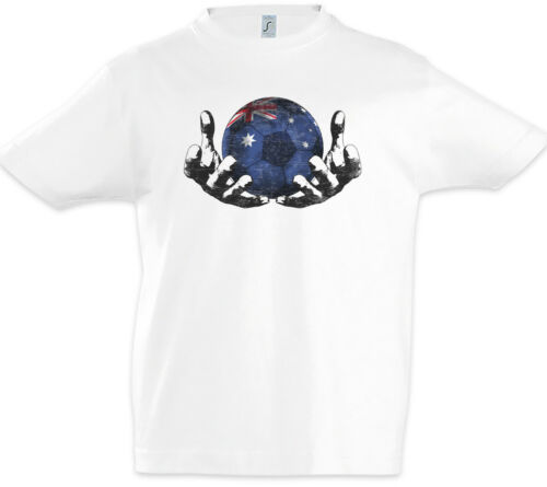 Australia Football Magic Ball Kids Boys T-Shirt australian Soccer Flag Banner