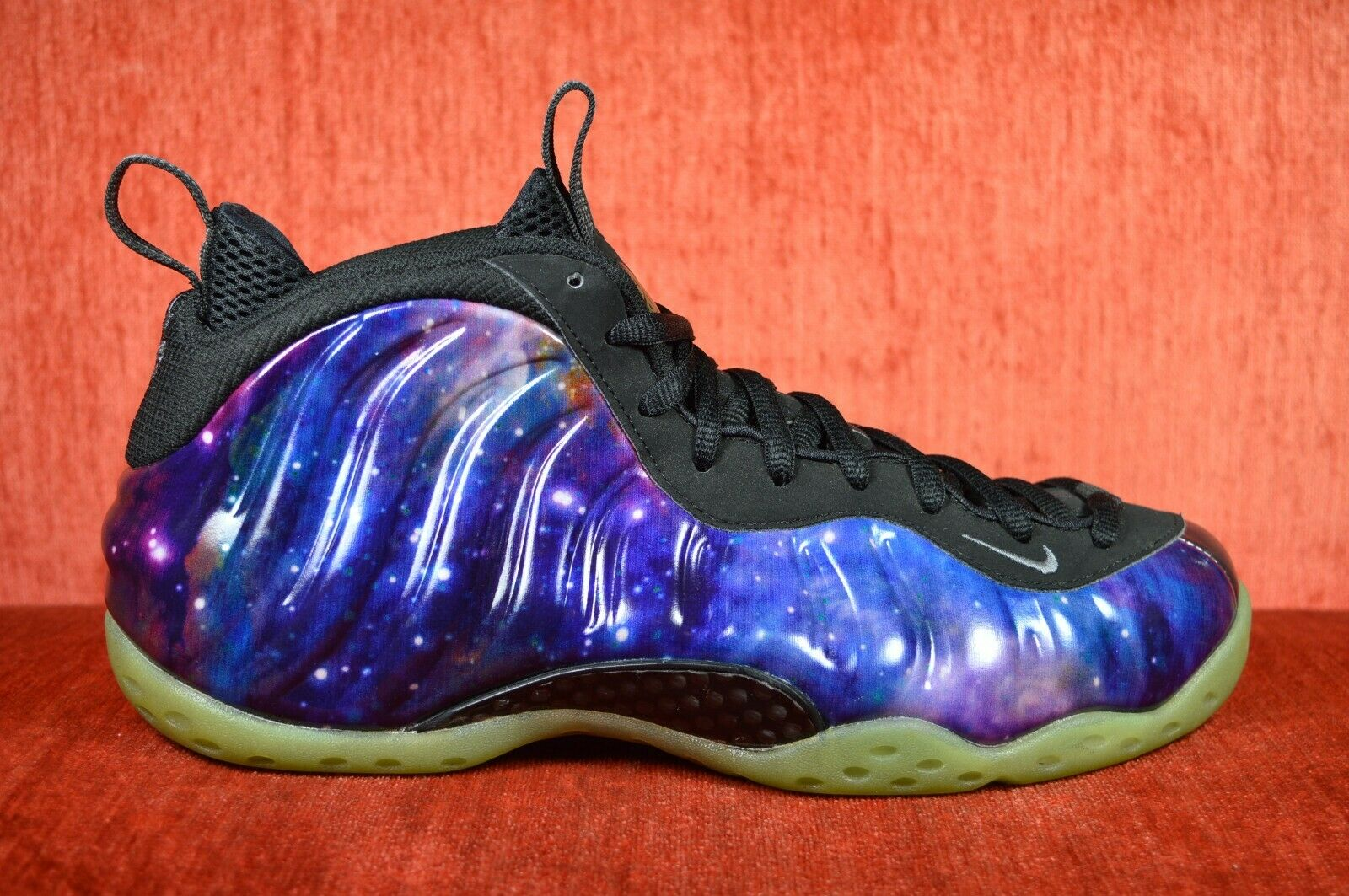 CLEAN NIKE AIR FOAMPOSITE ONE NRG USED SIZE 9.5 GALAXY 521286 800