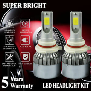 9005 HB3 2000W 300000LM COB LED Headlight Bulbs Kit 6000K White Super Bright