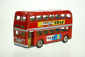 Blechspielzeug Bus Blechspielzeug rot TOYS MF 844 Doppeldecker Sammlerstück 80 Jahre London