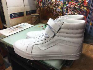 f856178be84a72 Vans SK8-Hi Reissue V (Mono Leather) White NIB Size US 12 Men s ...