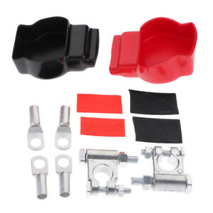 Battery Terminal Top Post Kit for Car Marine Boat Vehicle With Covers
