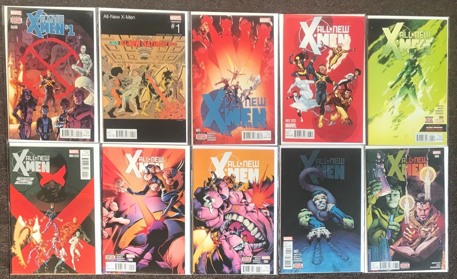 23 All New X-Men (Ser 2) 2) 2) variant lot nm b058c5