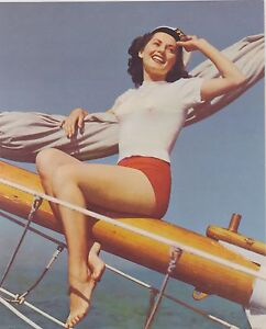 VINTAGE-8x10-PINUP-GIRL-print-023-OVER-THE-WAVES