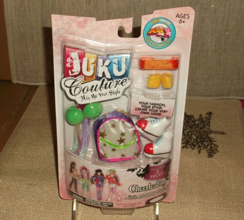 New from 2009 JUKU Couture Jakks Pacific Cheerleading Accessory Pack ages 6