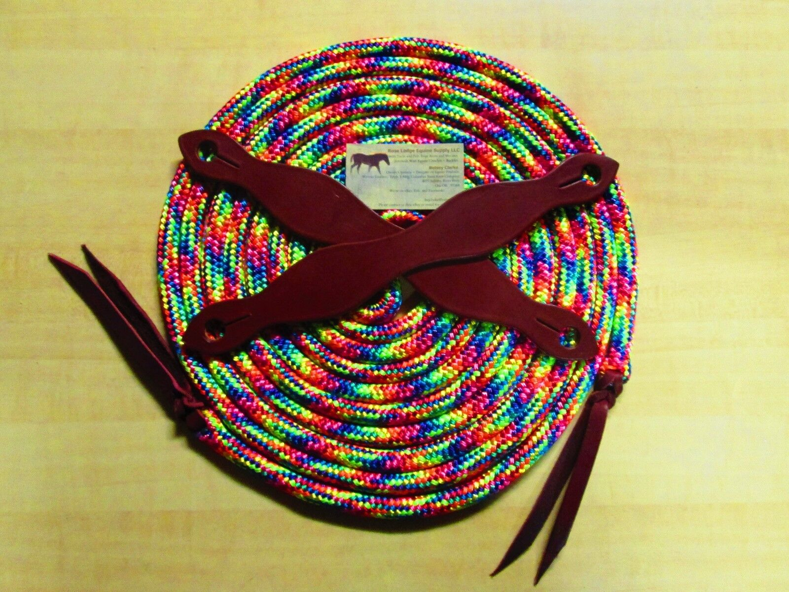 22' Mecate w Slobber Straps RAINBOW Reins Red  bluee orange Yellow Pink Green  shop online today