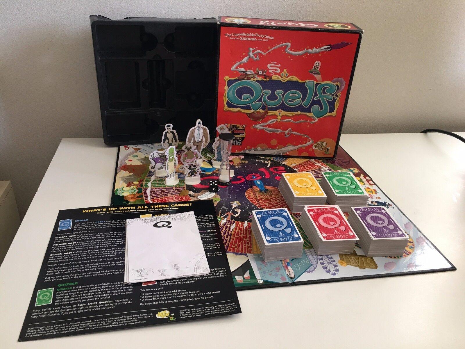 Quelf Premier Edition Board Game 99% Complete Rare