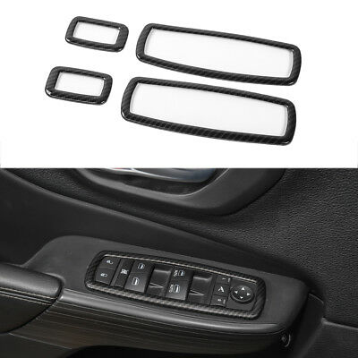 fit for Cherokee Grand Cherokee Durango Journey Car Window Button Trim Frame-Red