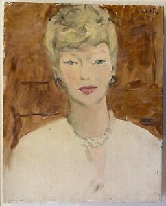 MARCEL VERTES (1895-1961) Portrait d'une élégante 1948