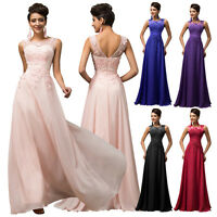 NEW Floor Length Sleevess Beading Chiffon Evening Wedding/Bridesmaid Party Dress