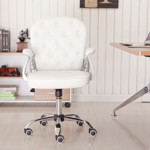 Home Office Kids PU Leather 360° Swivel Rocking Chairs Computer Desk Lift Chairs