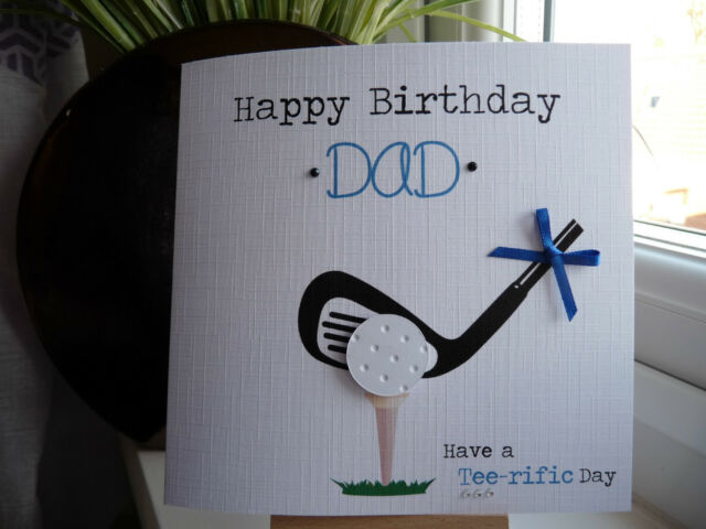 Handmade Personalised Male Golf Golfing Birthday Card Dad Husband Son Brother