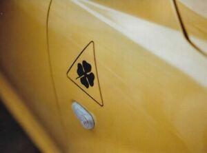 2x Quadrifoglio Triangle Decals Set Pegatinas Alfa Romeo Sticker Aufkleber