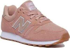 the latest 031b5 41012 Details about New Balance 373 Women Suede Mesh Lace Up Trainers In Peach  Size UK 3 - 8