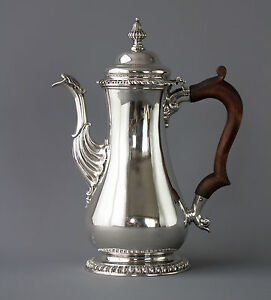 A Very Fine George II Silver Coffee Pot London 1758 - <span itemprop=availableAtOrFrom>South West, United Kingdom</span> - A Very Fine George II Silver Coffee Pot London 1758 - South West, United Kingdom