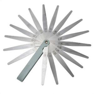 0-02-to-1mm-17-Blade-Thickness-Gap-Metric-Filler-Feeler-Gauge-Measure-Tool-WS