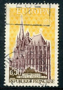 STAMP-TIMBRE-FRANCE-OLBITERE-N-1714-EUROPA-CATHEDRALE-AIX-LA-CHAPELLE