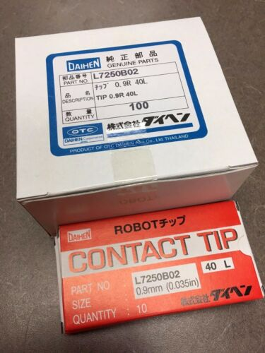 OTC DAIHEN .035 Contact Tips L7250B02 .09mm Automation Robotic Mig Welding 10pcs