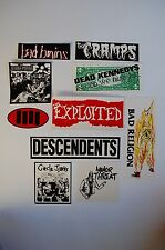 Assorted Punk Rock Stickers Decals Classic 80s 90s Music Lot of 10 (SL2)