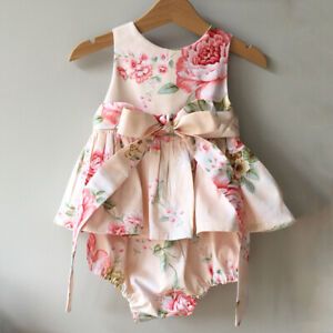 Newborn-Baby-Girl-Summer-Flower-Ruffle-Romper-Bodysuit-Jumpsuit-Outfits-Sunsuit