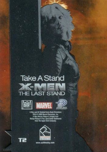 The Last Stand Movie Take a Stand Clear Card Chase Card T2 X-Men
