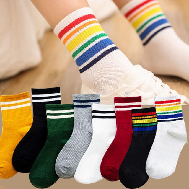 Women Cotton Striped Socks Soft Warm Winter Sports Skateboard Casual Hosiery New