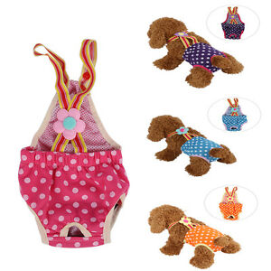 Washable-Puppy-Diaper-Sanitary-Pant-Suspenders-Underwear-Female-Girl-Pet-Dog-LJ