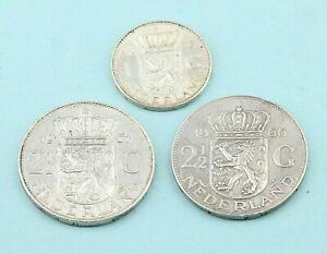 Gulden-Konvolut-Niederlande-720er-Silber-3-Muenzen-Juliana-Koenigin-36-50g-P69